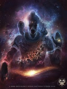 My God! Limitless, boundless Shiva! Art by Android Jones | BOOM SHIVA