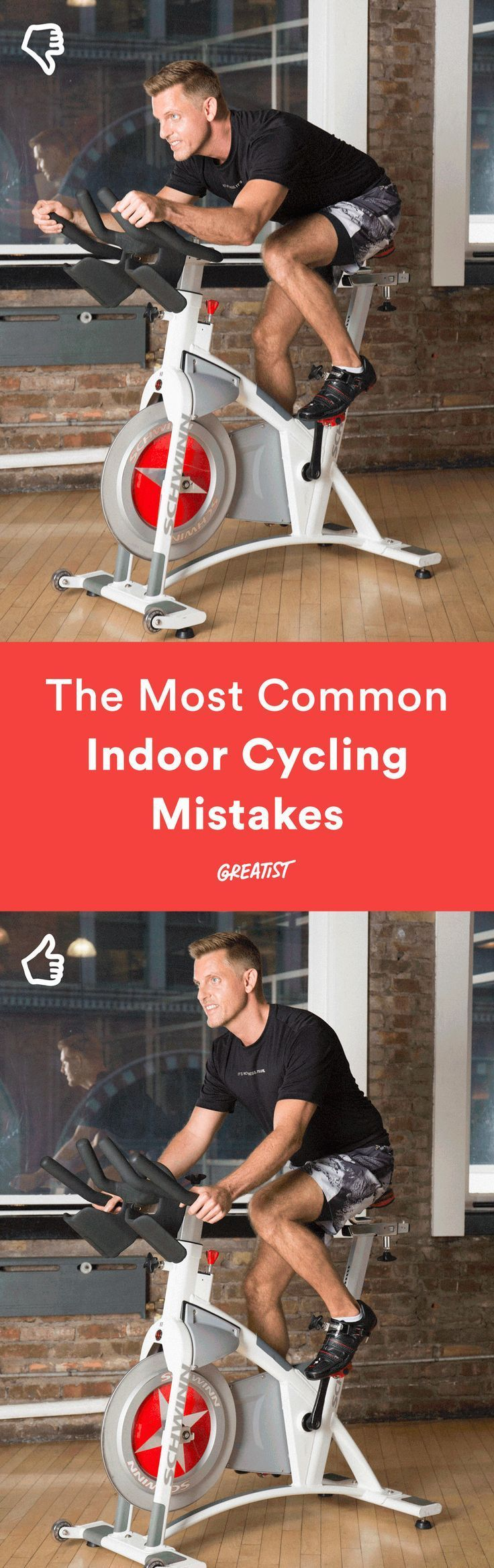 And how to fix them. #indoorcycling #spinning http://greatist.com/move/indoor-cycling-the-most-common-mistakes