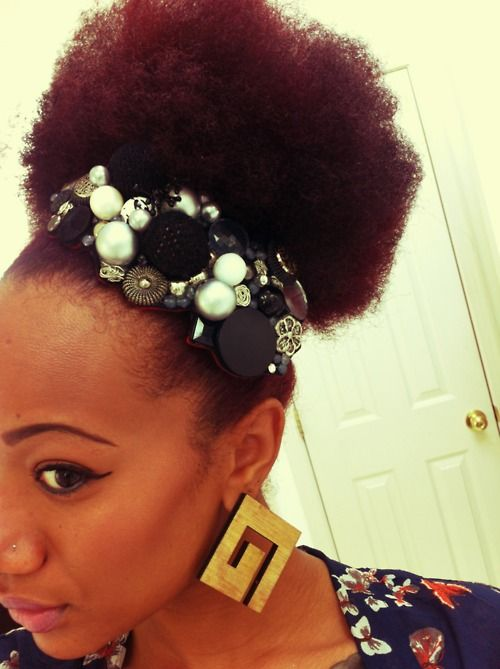 Puff & Jeweled Headband