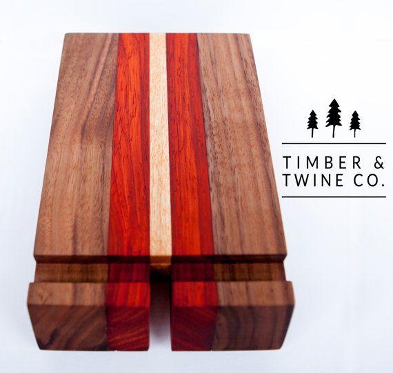 Handmade Hardwood IPad Stand by timberandtwineco on Etsy
