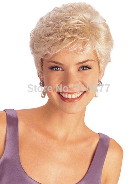 Новинка тепло - упорное волокно женщины коротком серый волны синтетические полные парики бесплатная доставка