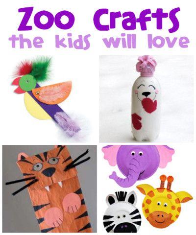Zoo Animals Art Crafts More fun craft ideas --> http://www.sewmuchcraftiness.com