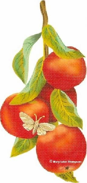 Melissa Shirley Designs | Hand Painted Needlepoint | Apples