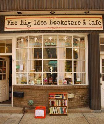 "The Big Idea Infoshop- gotta come here for ""big idea"" books and iced tea, pizzelles. Great times."