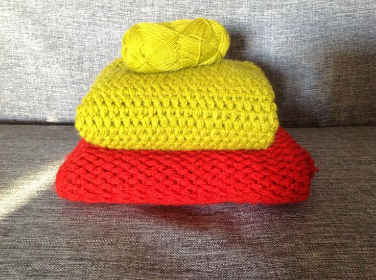 Puff stitch blanket, coperta punto nocciolina