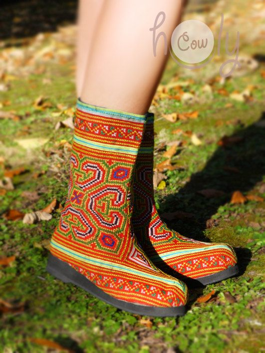 Women's Tribal Vegan Boots Womens Boots Tribal by HolyCowproducts