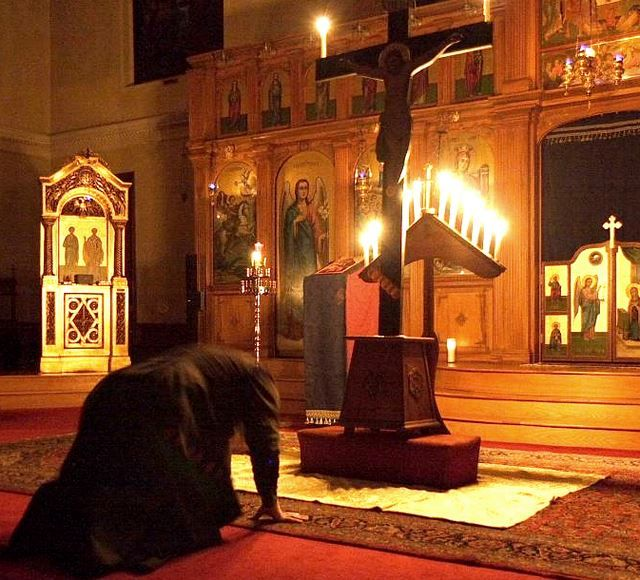 Αποτέλεσμα εικόνας για An Orthodox Christian prostrating himself in worship