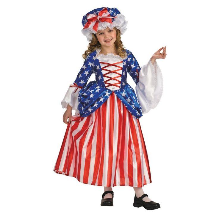 betsy ross patriotic girls halloween costume