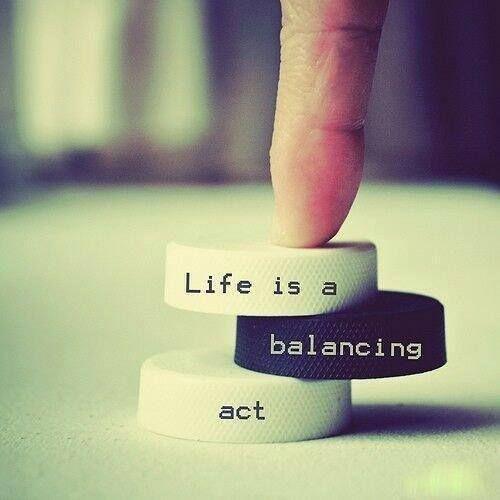 Life is a balance act