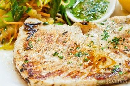 Receita de Filé de frango grelhado com molho de ervas - Comida e Receitas