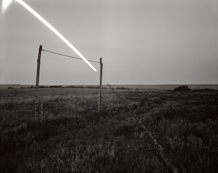 Ironweed Moonset, Flying W Ranch, Kansas Of Heaven and Earth - Photographs by David Shannon-Lier | LensCulture