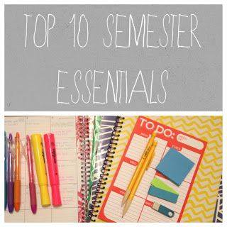 Organized Charm: Top 10 Semester Essentials Note to Self: This is THE