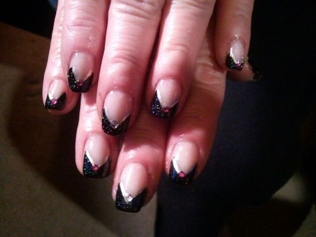 Elegant New Years - Nail Art Gallery by nailsmag.com check out www.MyNailPolishObsession.com for more nail art ideas.
