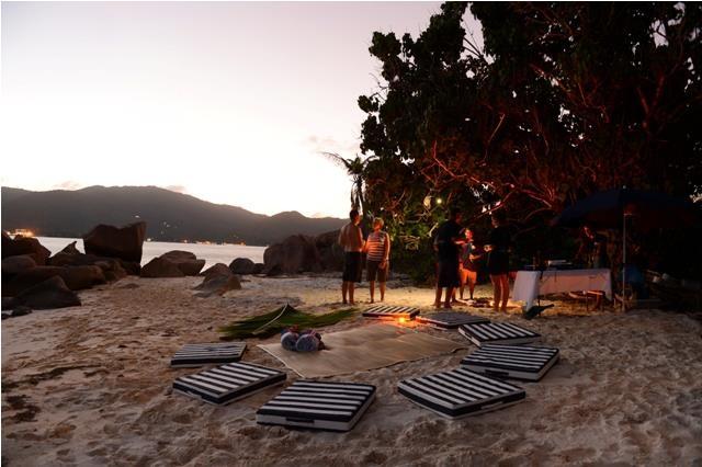 Sundowners on the beach... Seychelles
