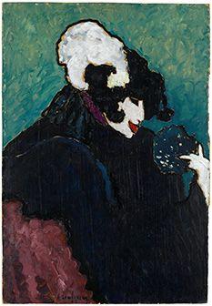 Alexej Jawlensky, Die weiße Feder, 1909, Öl auf Karton, 101 x 69 cm, Staatsgalerie Stuttgart