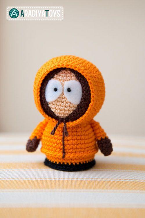 South park Kenny amigurumi crochet pattern by AradiyaToys