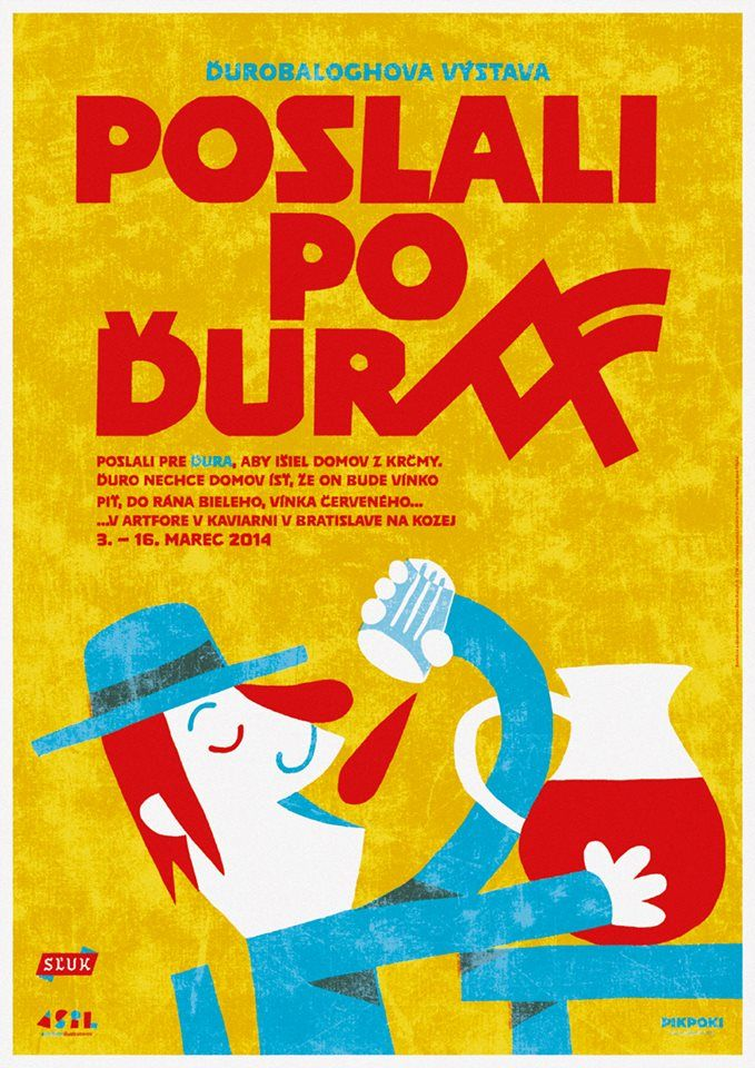 Another perfect poster by Duro Balogh for his own exhibition using Poleno typeface. http://www.asil.sk/portfolia.php?artist=balogh&zpg=1