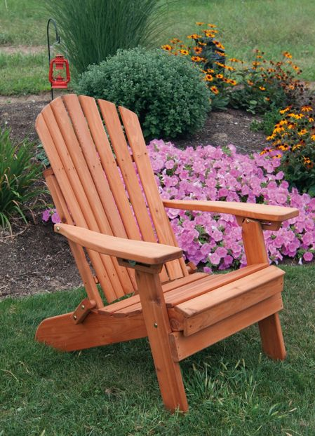 Western Red Cedar Folding Reclining Adirondack Chair Amish Made In The Usa Cedar Outdoor