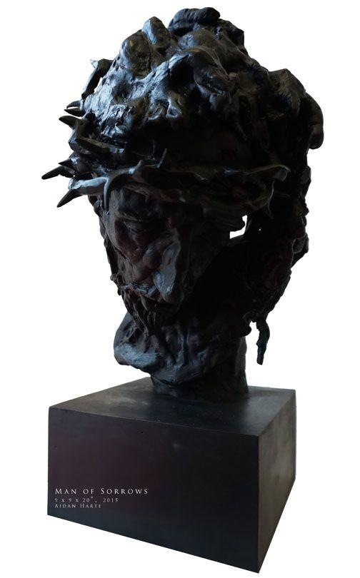 'Man of Sorrows' 2015 bronze by Aidan Harte #christ