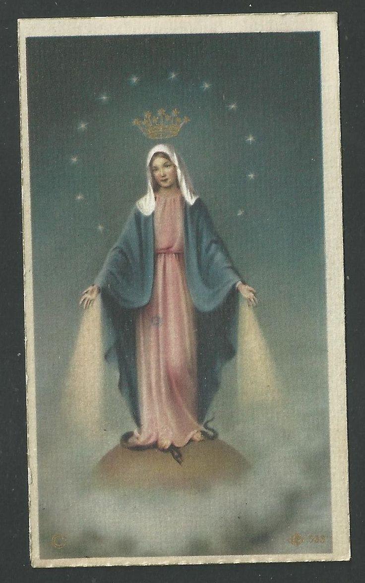 SANTINO antico de la Virgen Milagrosa pieuse holy card estampa - EUR 4,00. santino antico de la Virgen Milagrosa 371793398756