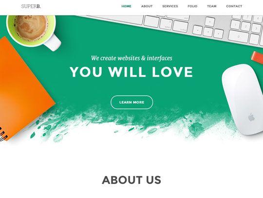 Collection Of Trendy Flat Portfolio Website Templates