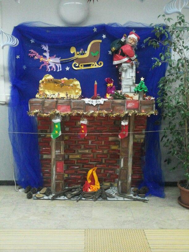 Decorazioni natalizie scuola primaria wc83 regardsdefemmes for Finto camino natalizio