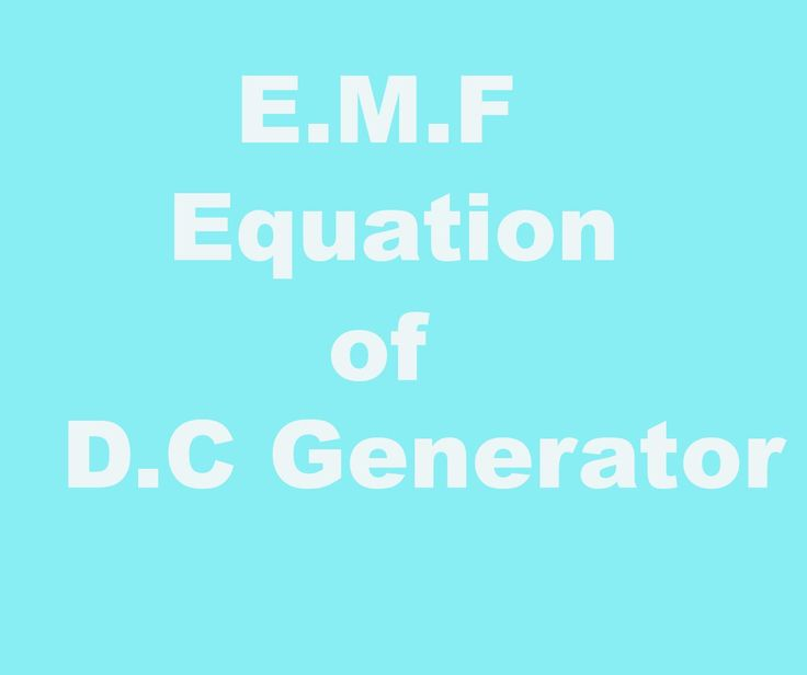 this is an emf equation of DC generator | Electrical Engineering ...