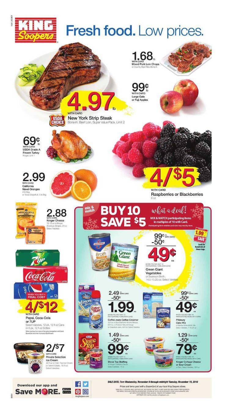 King Soopers weekly ad November 9 - 15, 2016 - http://www.olcatalog.com/grocery/king-soopers-weekly-ad.html