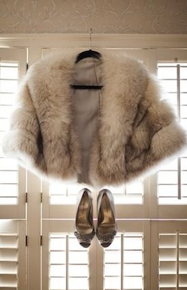Seasonal Wedding Ideas: Winter fur coat for a 32 below wedding! #winter #fur
