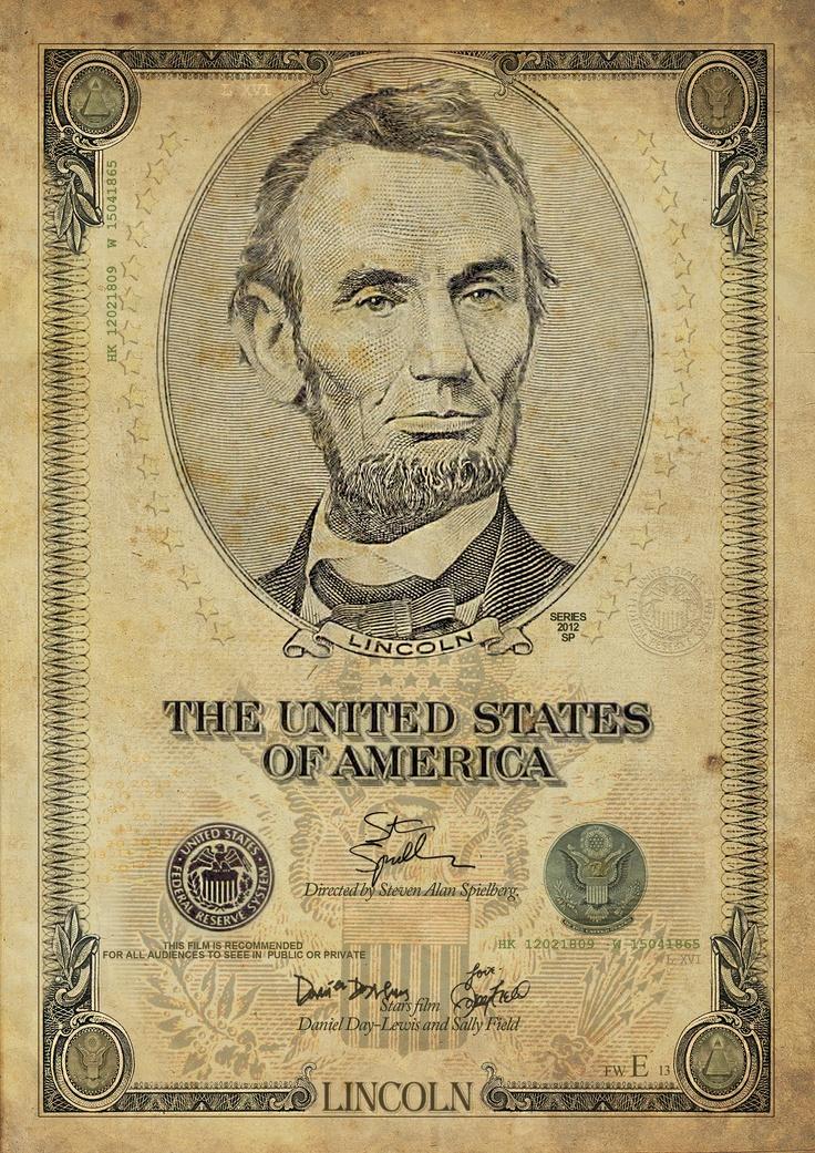 Versión muy retro poster de cine Lincoln.