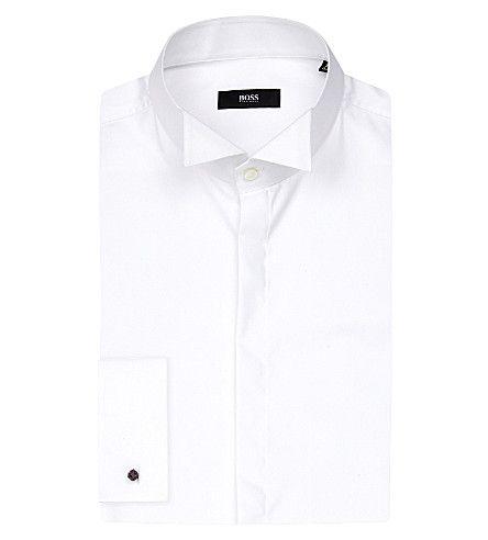 BOSS Wing Collar Cotton Shirt. #boss #cloth #shirts