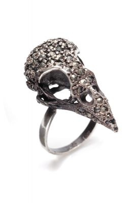 JULIA DEVILLE Pave Sparrow Ring  Sterling silver, marcasite 2cm x 1.5cm I'm sure I can't afford this one, but maybe I can find something like it...