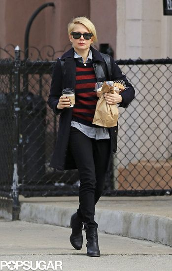 Michelle Williams Circles Back to Brooklyn With Matilda: Michelle Williams grabbed coffee and breakfast to go in Brooklyn.
