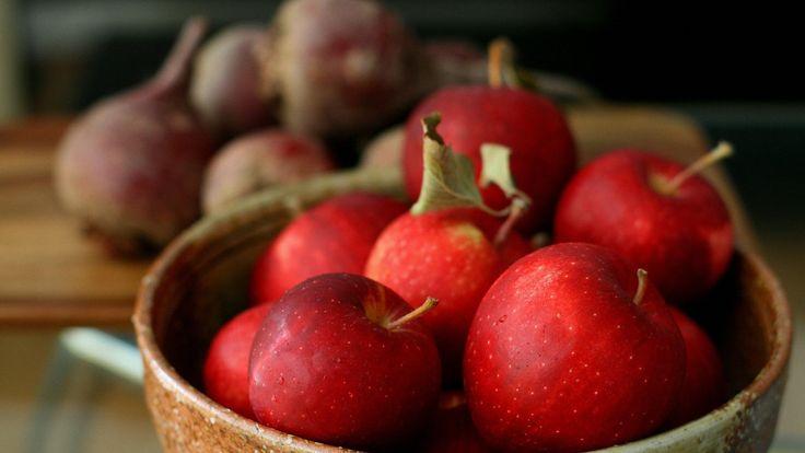 Скачать обои яблоки, красные, блюдо, витамины, раздел еда в разрешении 1920x1080