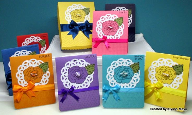 Rainbow of Colors gift card set by Alyson Mayo