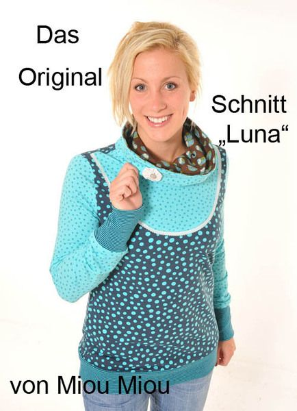 Kuschelig für den Winter und luftig für den Sommer... Shirt Luna wird sicher ein Lieblingsteil von Euch werden! Besondere Details sind der halsfe...