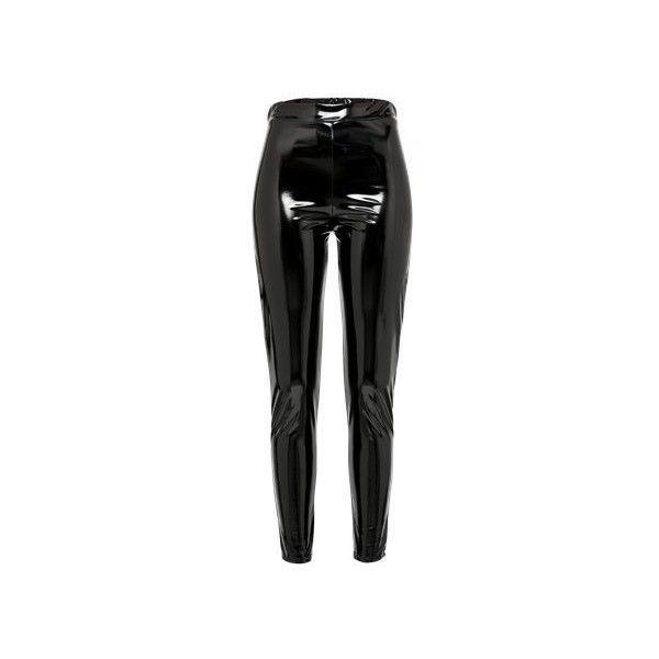 Boohoo Leggings 'HIGH SHINE 'LATEX LOOK' LEGGING ❤ liked on Polyvore featuring pants, leggings, stretch pants, stretchy leggings, legging pants, skinny leggings and wetlook leggings