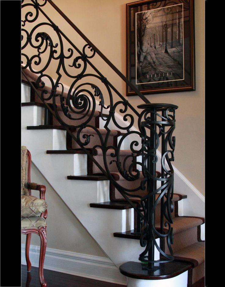 Generous Custom Interior Wrought Iron Stairways | Toronto