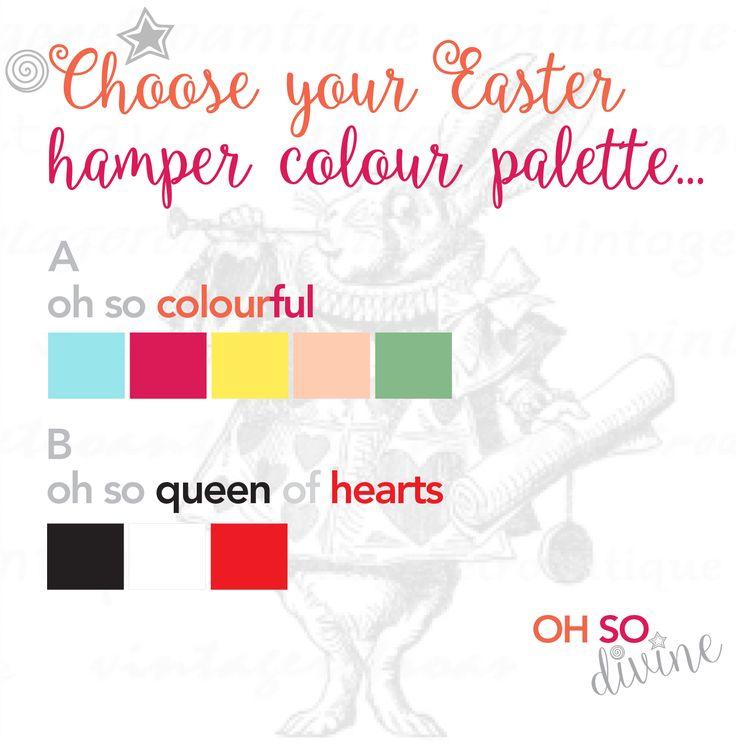 Choose your Easter hamper colour palette