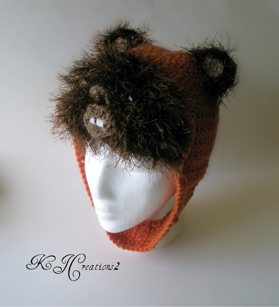 Ewok Hat: Made-to-Order Fun Character Hats -- Ewok Shown.