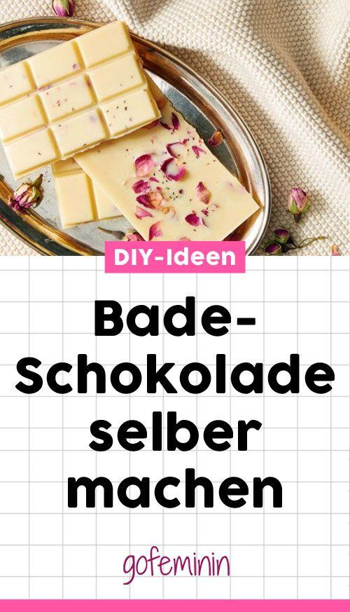 Badeschokolade selber machen - diese Anleitung ist ganz einfach #diy #diyideen #badeschokolade