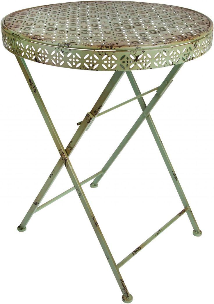 Bistro tafel - Rond - Groen - Esschert Design