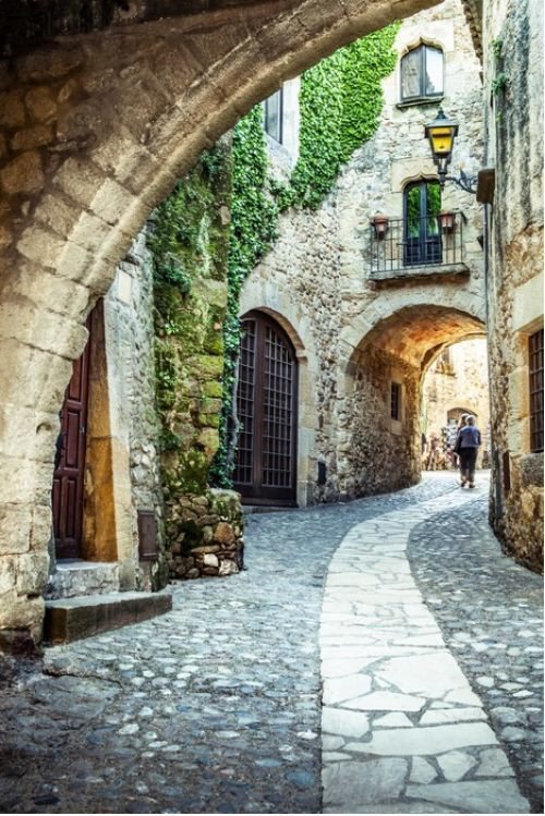 Catalonian village archway from $41.99 | www.wallartprints.com.au #VillagePictures #LandscapePhotography