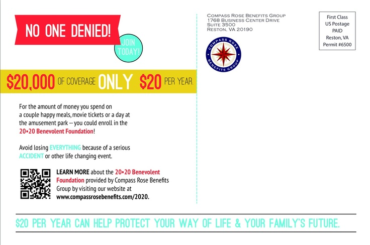 The 20•20 Benevolent Foundation | Postcard (2) #infographic