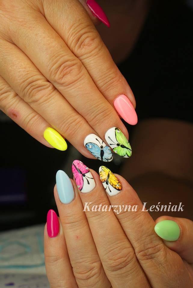 by Katarzyna Leśniak Indigo Young Team! Follow us on Pinterest. Find more inspiration at www.indigo-nails.com #nailart #nails #indigo #summer #pastel #butterfly