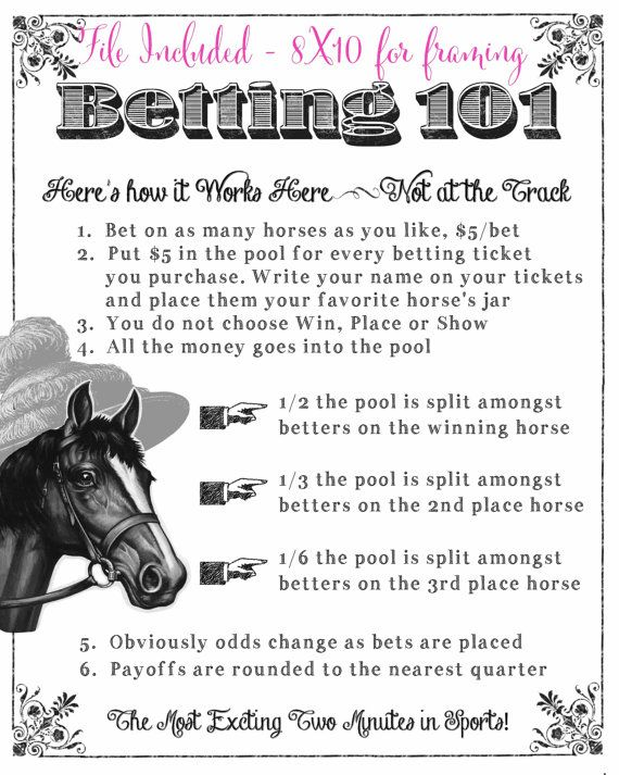 Kentucky Derby Party Printable Betting Sheets by CreationsbyDeven