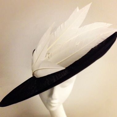 Stylish 'the swoop' #hat by @PiersAtkinson featured in Harvey Nichols first pop-up millinery dept