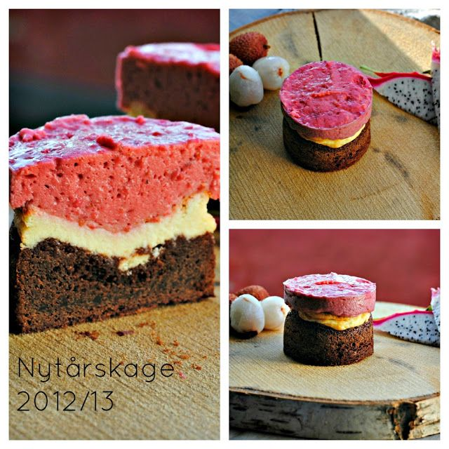 Brownie-cheesecake m. hindbærmousse