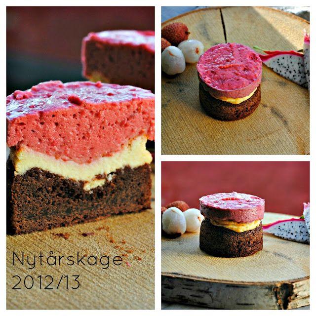 Brownie-cheesecake m. hindbærmousse