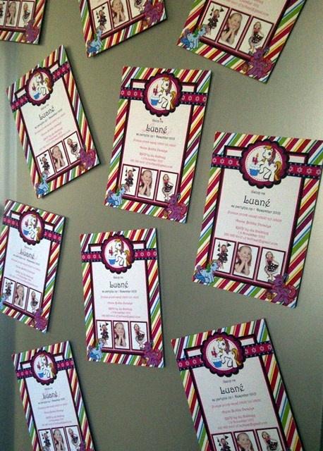 My Little Pony Fridge Magnet Invitations McKenna Pinterest